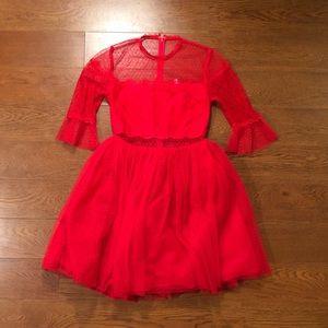 Red mini dress!
